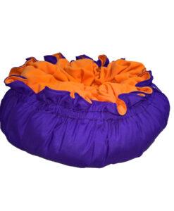 snoezelmand paars oranje